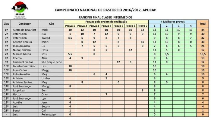 APUCAP Ranking Final Intermedios